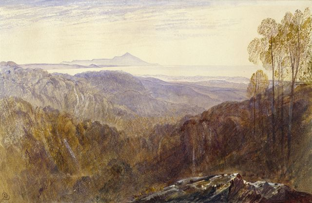 Distant View of Mount Athos | Edward Lear | Oil Painting