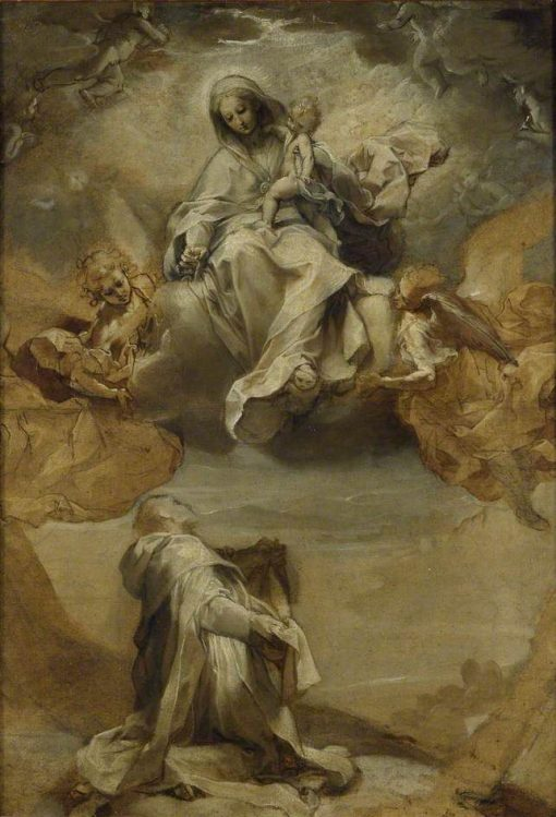 Saint Dominic de Guzman receiving the Rosary | Federico Barocci | Oil Painting