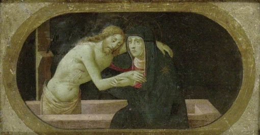 Christ in the Tomb Supported by the Virgin   Francesco Granacci   Oil Painting