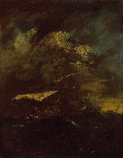 Two Vessels in a Storm   Francesco Guardi   Oil Painting
