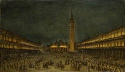 A Night Procession in the Piazza San Marco | Francesco Guardi | Oil Painting