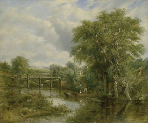 River Landscape | Frederick Waters Watts | Oil Painting