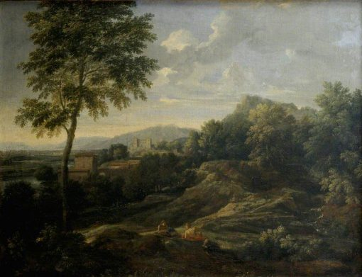 Landscape in the Roman Campagna   Gaspard Dughet   Oil Painting