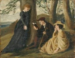 Tennyson reading aloud in a Glade | George Howard