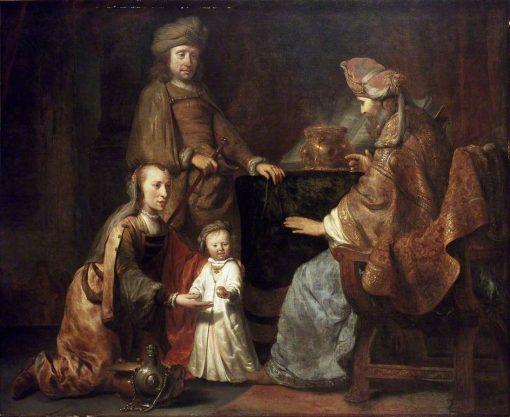 The Infant Samuel Brought by Hanna to Eli | Gerbrand van den Eeckhout | Oil Painting