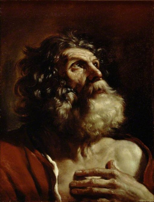 Head of an Old Man   Guercino   Oil Painting