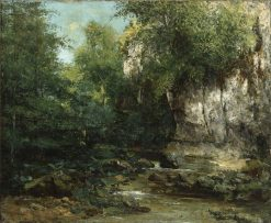 The Banks of a Stream | Gustave Courbet | Oil Painting