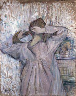 La Toilette (Celle qui se peigne) | Henri de Toulouse Lautrec | Oil Painting