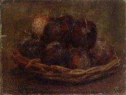 A Basket of Plums | Henri Fantin Latour | Oil Painting
