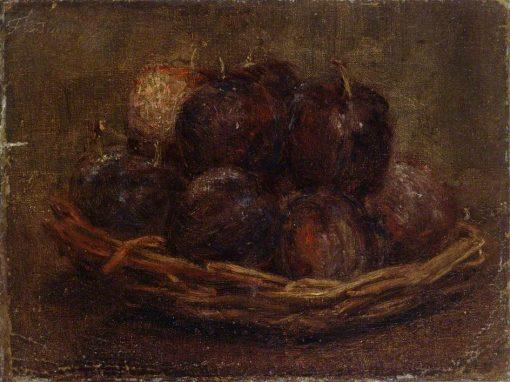 A Basket of Plums   Henri Fantin Latour   Oil Painting
