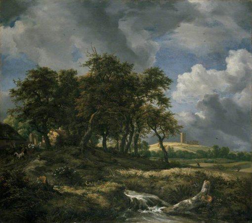 Landscape near Muiderburg   Jacob van Ruisdael   Oil Painting