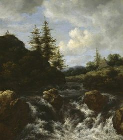 Landscape with a Waterfall | Jacob van Ruisdael | Oil Painting