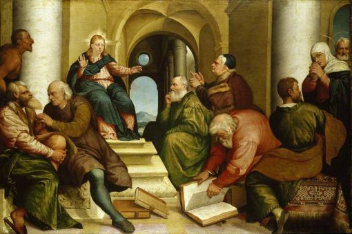 Christ Among the Doctors   Jacopo Bassano   Oil Painting