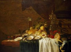 Still-Life with Fruit and Oysters | Jan Davidsz. de Heem | Oil Painting