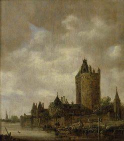 A Castle by a River | Jan van Goyen | Oil Painting