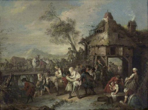 The Departure of the Troops | Jean Baptiste Pater | Oil Painting