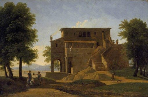 An Italian Villa   Jean Victor Bertin   Oil Painting