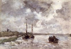 View on the Meuse | Johan Hendrik Weissenbruch | Oil Painting