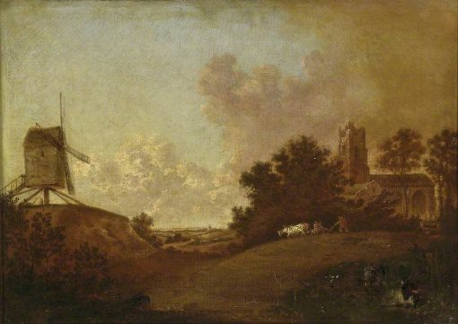 Old Orford Church and Mill