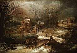 Winter Landscape with the Flight into Egypt | Joos de Momper the Younger | Oil Painting