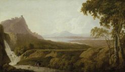 Italianate Landscape with Waterfall | Joseph Wright of Derby | Oil Painting