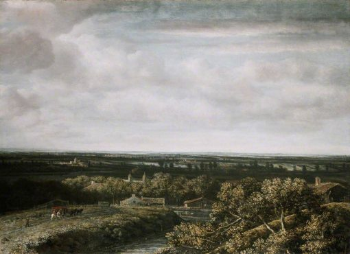 A View over Flat Country   Philips Koninck   Oil Painting