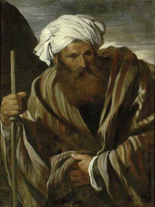 An Oriental Figure | Pier Francesco Mola | Oil Painting