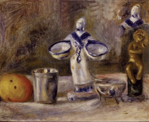 Still Life with a Faience Figure | Pierre Auguste Renoir | Oil Painting