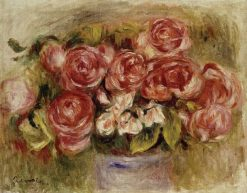 Still Life of Roses in a Vase | Pierre Auguste Renoir | Oil Painting