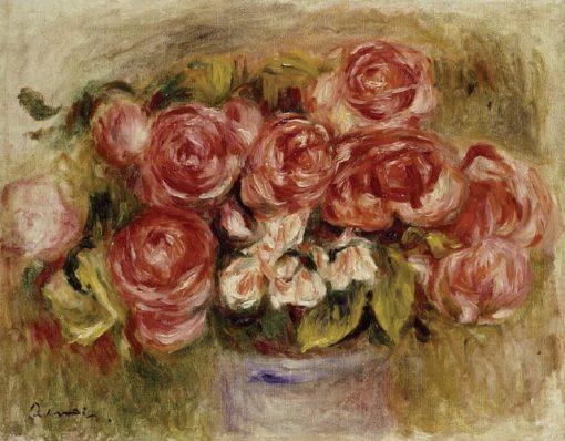 Still Life of Roses in a Vase   Pierre Auguste Renoir   Oil Painting