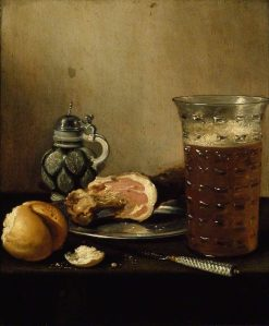 Still Life with a Ham | Pieter Claesz | Oil Painting