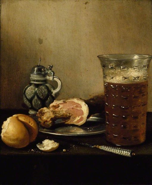 Still Life with a Ham | Pieter Claesz | Oil Painting