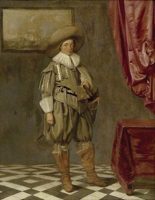 Portrait of a Young Man Standing | Pieter Codde | Oil Painting