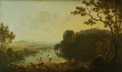 River Scene with Bathers | Richard Wilson