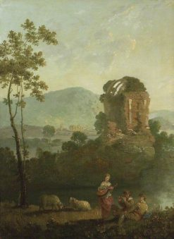 Pastoral Scene with Musicians by a Classical Ruin | Richard Wilson