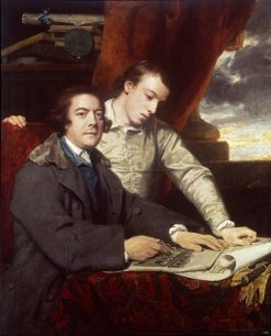 James Paine Architect and His Son James | Sir Joshua Reynolds | Oil Painting