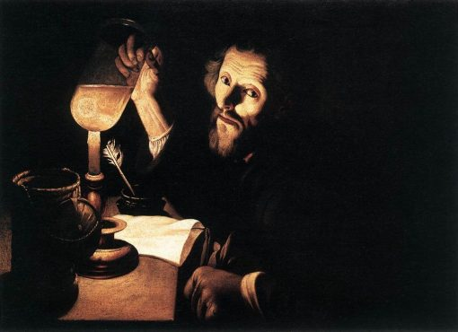 A Doctor Examining Urine | Trophime Bigot | Oil Painting