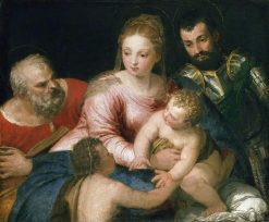 The Holy Family with the Young Saint John the Baptist and Saint George | Veronese | Oil Painting