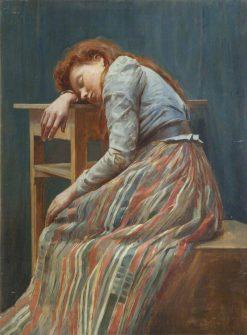 Young Girl Sleeping | Benjamin Fisher | Oil Painting