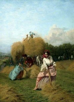 The Barley Harvest | George Elgar Hicks | Oil Painting