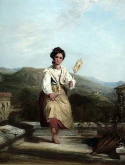 Spinning Girl of Sorrento | William Collins | Oil Painting