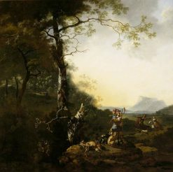 Landscape with Huntsmen | Adam Pynacker | Oil Painting