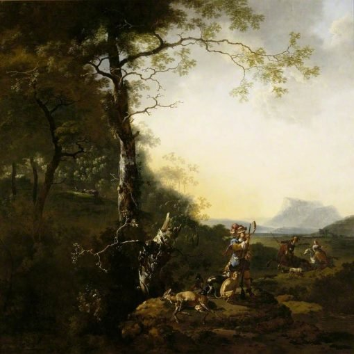 Landscape with Huntsmen | Adam Pynacker | Oil Painting