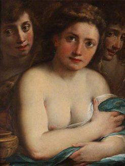 Saint Mary Magdalen with Saint John the Baptist and an Angel (?) | Giulio Cesare Procaccini | Oil Painting
