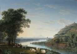 Capriccio View of the River Volturno with Monte Epomeo beyond | Jakob Philipp Hackert | Oil Painting
