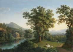 River Landscape with Elements of the English Garden at Caserta | Jakob Philipp Hackert | Oil Painting
