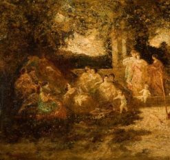 The Concert | Adolphe Joseph Thomas Monticelli | Oil Painting
