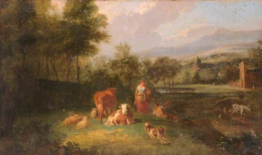 Landscape with Rustics and Farm Animals | Francesco Zuccarelli | Oil Painting