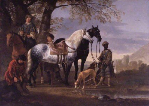 Huntsmen Halted   Aelbert Cuyp   Oil Painting