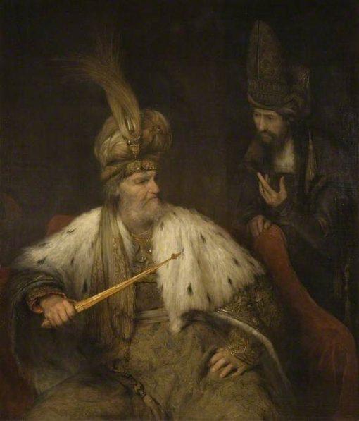 Ahasuerus and Haman   Aert de Gelder   Oil Painting
